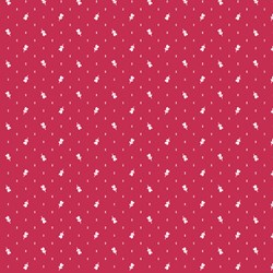 "END OF BOLT- 78""- Little Sweethearts - Red with Heart Rosebuds - by Renee Nanneman for Andover Fabrics"