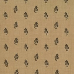 END OF BOLT- Maison de Garance - Brown Leaf on Dark Tan - by French General for MODA