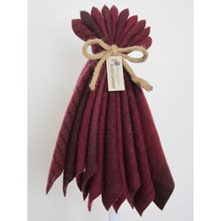 Last One!  Hand-Dyed Wool Bundle- Black Cherry