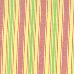 "33"" Remnant Piece Maypole Woven Quilting Fabric Reds, Yellows & Greens"