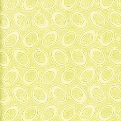 "11"" Remnant Piece - Kaffe Fasset Quilting Fabric  - Yellow/Ivory Aboriginal Dots"