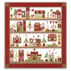Gold Package - Mistletoe Lane Quilt Kit & Aurifil Thread Pack - Block of the Month or All at Once