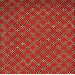 "18"" Remnant - Collections Circa 1852 - Red Plaid - Howard Marcus for Moda"