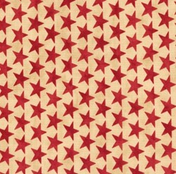 "Vintage Find!  9"" Remnant- Nantucket - Stars - Tan & Red"