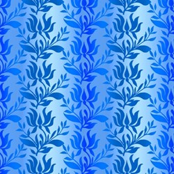 Paradise - Blue Ombre Stripe - In The Beginning Fabrics