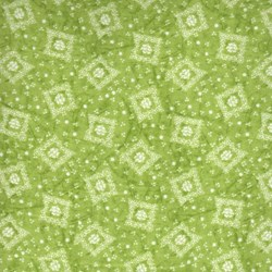 "30"" Remnant - RJR Fabric- Green Diamond"