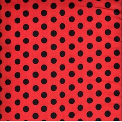 "End of Bolt - 50"" - RJR Fabric- Black Dot on Red"