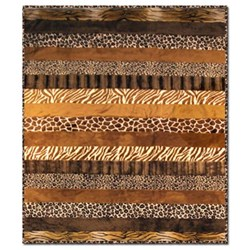 The Animal Safari Snuggler Quilt Kit