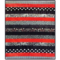 The Red & Black Sexy Snuggler Quilt Kit
