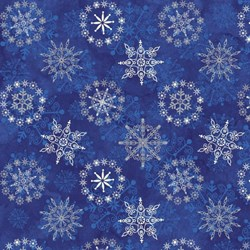 Starry Night - Stonehenge Navy Snowflakes - by Northcott