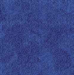 Starry Night - Stonehenge Navy Swirling Mini Stars - by Northcott