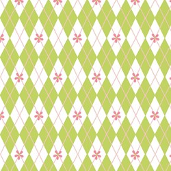 1/3 Yard - Sugar And Spice - Green Diamond Grid - by The Quilted Fish for Riley Blake Designs