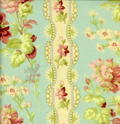 "7"" Remnant Piece Sweet Escape - French Border Print-Aqua"