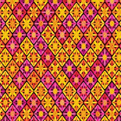 "42"" End of Bolt Piece - Viva Brazil - Sunsetter Pinks/Oranges - by Kanvas for Benartex Fabrics"