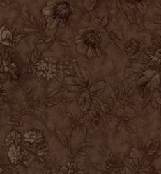 "67"" x 108"" End of Bolt Piece - Vintage! Wuthering Heights - Brown Tonal Floral - by 3 Sisters for Moda"