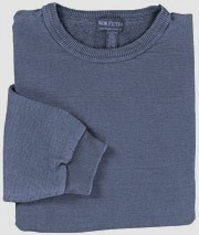 Last One!  Banded Hem  Sweatshirt -Extra  Large Denim