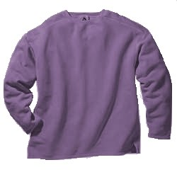 Boxy Cut Sweatshirt -  X  Large - Washed Plum