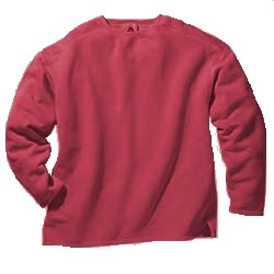 Boxy Cut Sweatshirt - X Large Poppy