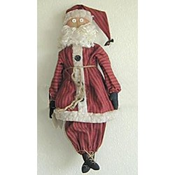 Vintage Find!  Primitive Santa by Pine Creek Folk Art
