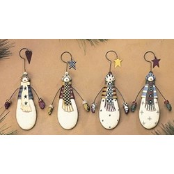 Large Snowman Ornaments - Williraye Studios
