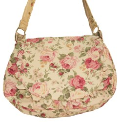 Vintage Find!  Prairie Rose - Lecien  Light Rose Floral Purse Kit