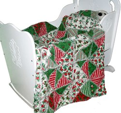 Only 2 Left!  Baby's First Christmas Snuggler<br><i>Includes Backing!</i>