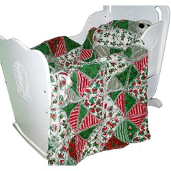 Only 2 Left!  Baby's First Christmas SnugglerIncludes Backing!