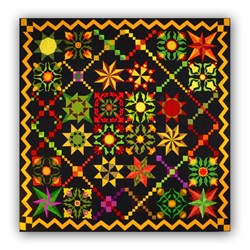LAST ONE!  The Chain Gang Batik Quilt Kit - Last One!  Free US Shipping