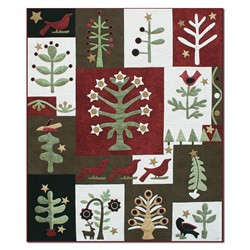 Festival of Trees Silk and Wool Matka Quilt Block of the Month or All at OnceStart Anytime