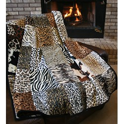The Serengeti Snuggler Minky Quilt Kit