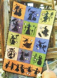 When Witches Fly 100% Hand Dyed Wool Quilt Kit
