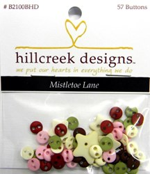Mistletoe Lane Quilt Embellishment Button Pack by Hillcreek Designs