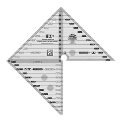 Creative Grids 6in Flying Geese & 45/ 90 Degree Triangle Ruler