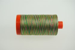 Aurifil #4650 - Mako 50 wt  Thread - Varigated Red & Green