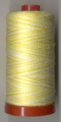 Aurifil #8001 - Wool Thread 12wt -Varigated Lemonade & White