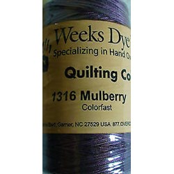 Quilting Overdyed Thread - Mulberry