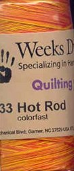 Quilting Overdyed Thread - Hot Rod