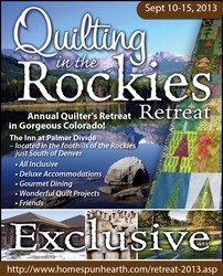 2013 Quilting in the Rockies Retreat