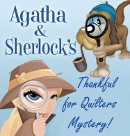 Free Agatha & Sherlock's Quilter's 2017 Thanksgiving Weekend Free Quilter's Mystery
