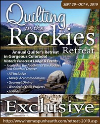 Quilting in the Rockies Retreat - Commuters -  2019