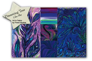 More Back in Stock!  Dreaming Tree Lilac Sky Quilt Kit