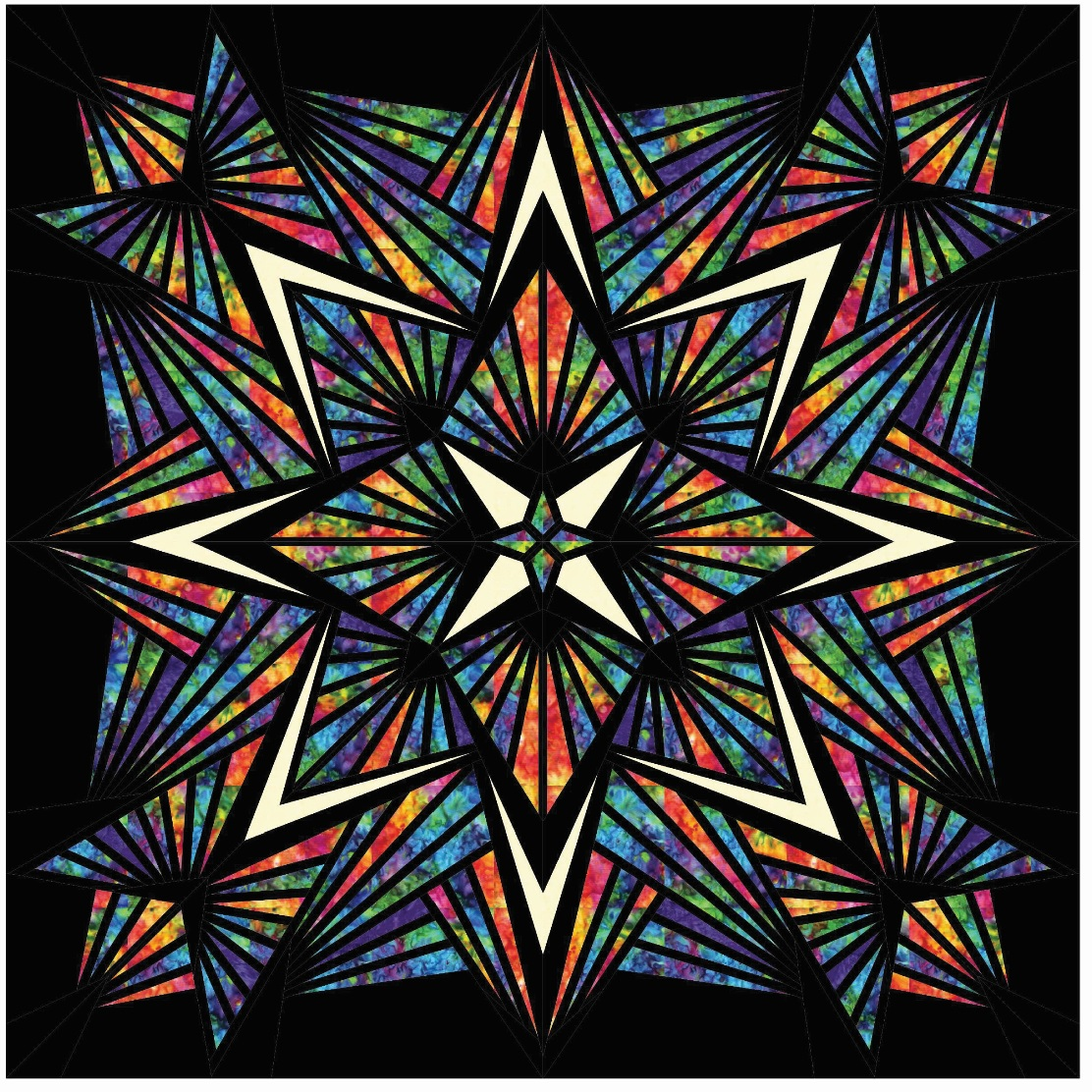 LAST ONE! Crystal Stained Glass Prism Batik Queen Laser