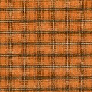 Homespun Fabric Pumkin Patch Plaid - Orange/Brown squaresby Renee Nanneman for Andover Fabrics