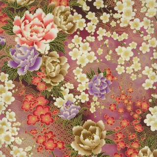 Raspberry Texture Print - Serene Garden by Yuko Hasegawa for RJR Fabrics - Includes Bonus Pattern!