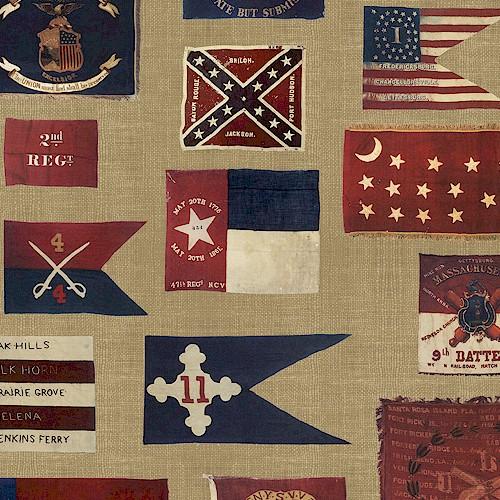 Civil War Era Flags Gettysburg Viii By Windham Fabric