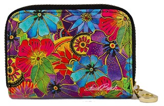Blossoming Florals Zipper Card (Armored) Wallet