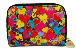 Dancing Hearts Zipper Card (Armored) Wallet