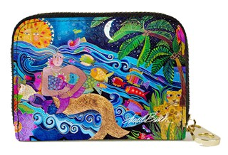 Sea Goddess  Zipper Card (Armored) Wallet