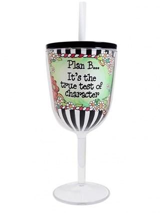 Plan B Tingle Wine Glass