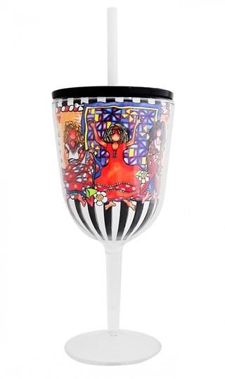 Quilt Sisterhood Tingle Wine Glass